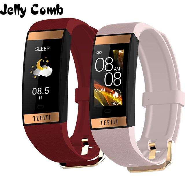 Gelée peigne femmes montre intelligente hommes Bracelet IPS couleur écran moniteur de fréquence cardiaque pression artérielle dames Smartwatch pour IOS android