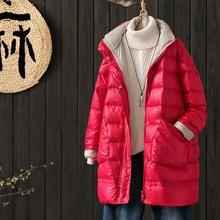 2020 Winter Long Down Jacket Women Loose A-line Version Jack