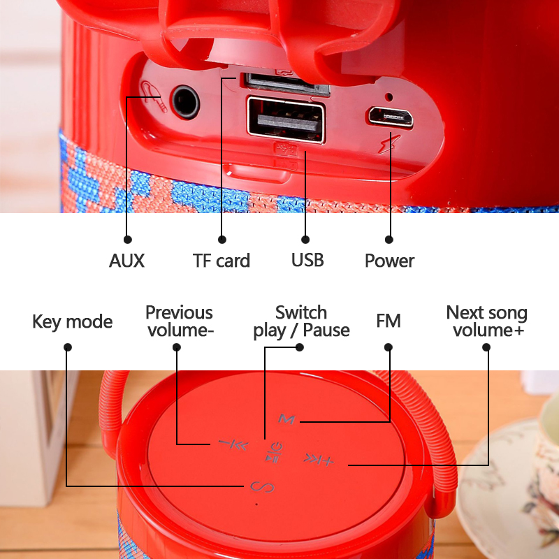 Беспроводной портативный динамик 20 Вт мощный внешний сабвуфер