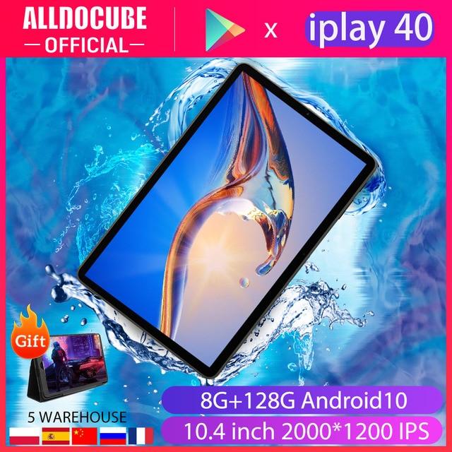 Alldocube iPlay40 10.4'' Tablet PC 2000*1200 5G Network UNISOC T618 Octa Core 8GB RAM 128GB ROM Android 10 Dual Wifi Type-C