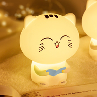 Colorful Night Light Remote Control Bedside Children Lamp Recording Cute Pet Cartoon Popularity of Small Night Light
