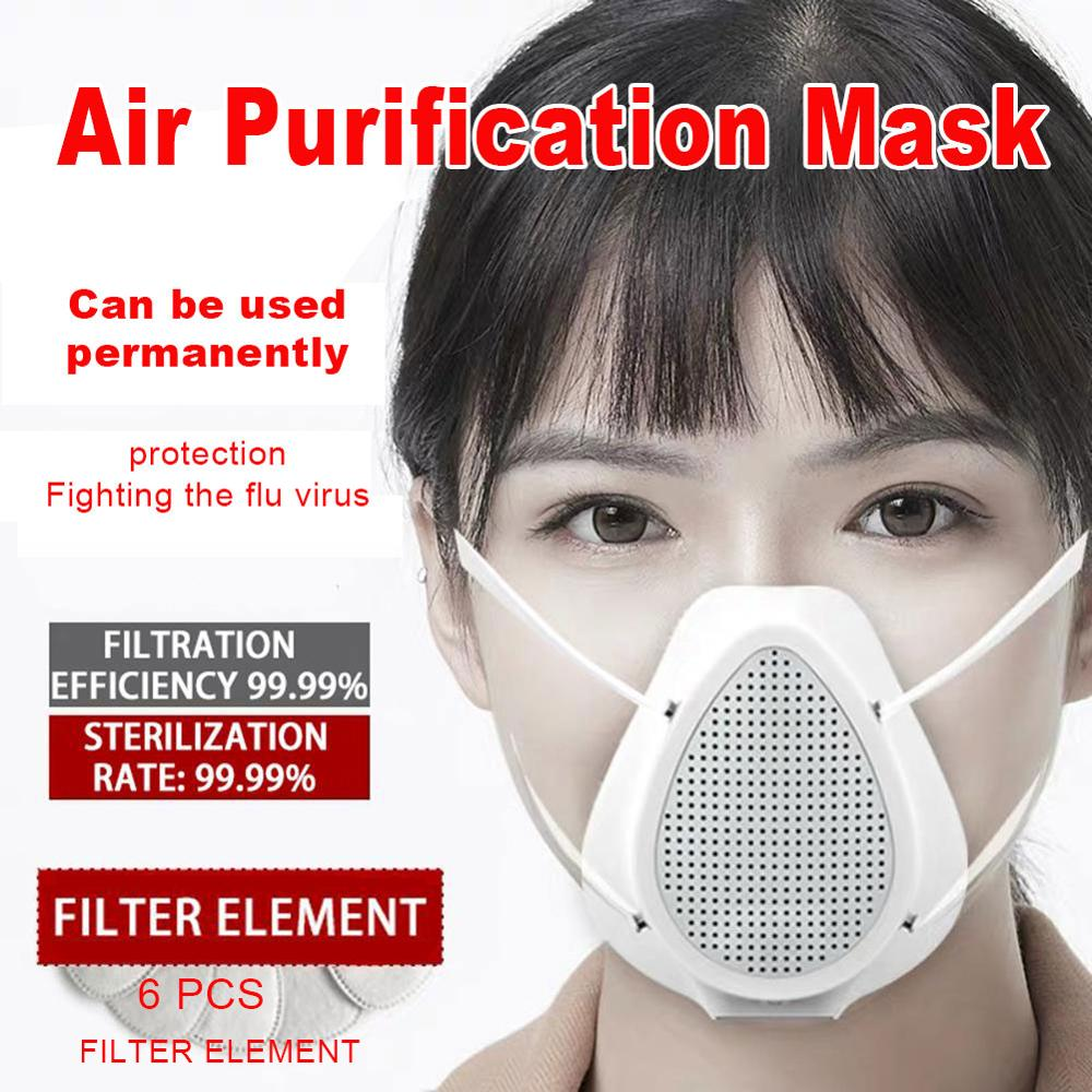PM2.5 Haze Breathing Valve Filtering Electric Face Mask Unisex  Dust Proof Powerful Breathable  Electric Cover USB Charging