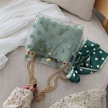 Women Bag New Transparent Jelly Shoulder Bag Women Chain Crossbody PVC Women Bag Shoulder Bag chevron stitch pvc chain crossbody bag