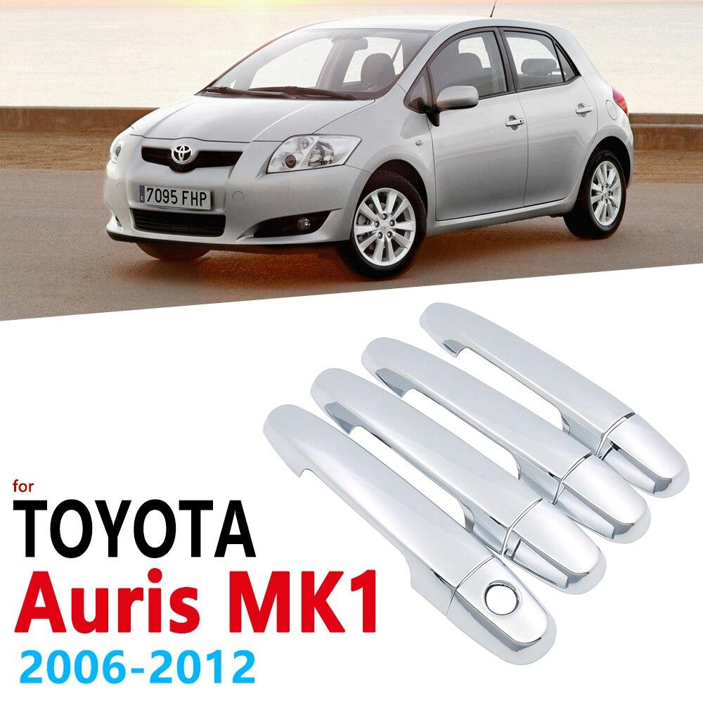 Chrome Handles Cover Trim Set for Toyota Auris E150 MK1 2006 2012 Auto Accessories Stickers Car Styling 2007 2008 2009 2010 2011
