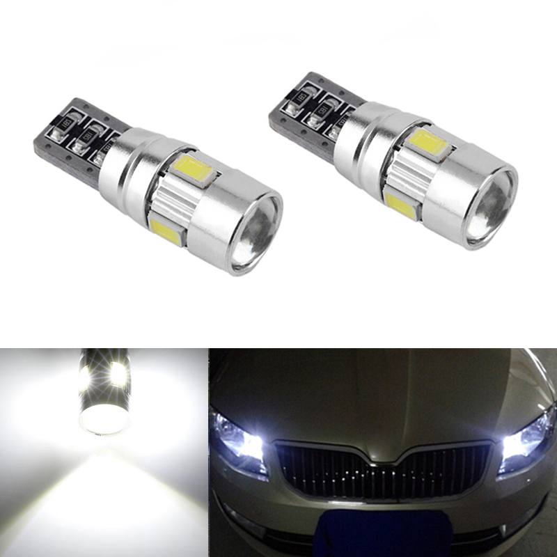 2X T10 W5W <font><b>LED</b></font> Clearance Light Marker Lamp Bulb Canbus Error Free For <font><b>Skoda</b></font> <font><b>octavia</b></font> 2 a7 a5 fabia rapid yeti superb Fabia image