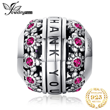 JewelryPalace Thank You 925 Sterling Silver Beads Charms Original For Bracelet original Jewelry Making