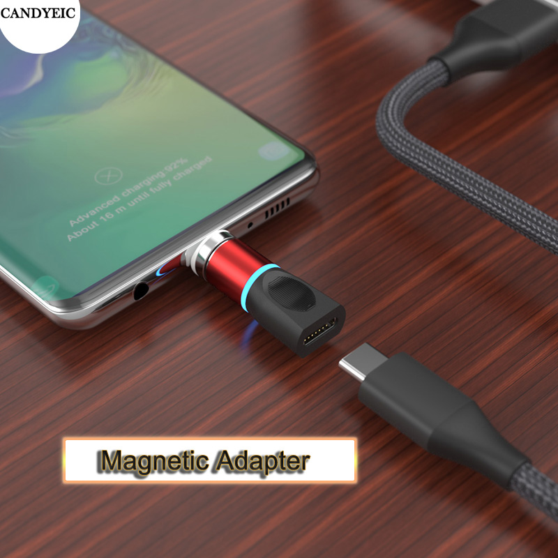 CANDYEIC Fast Charging Micro USB Magnetic Adapter For Samsung S20 S10 Huawei Mate40 30 Honor V30 Redmi Android Magnetic Charger