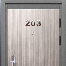 10Pcs 0 to 9 Self Adhesive Door House Numbers Address Plaques for Residence Mailbox Signs LB88