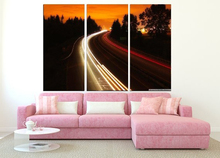 Modern Colorful Photo Picture interstate highway Room Decor Cities Canvas Art Painting Living Bedroom