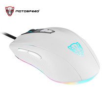 Motospeed V60 USB Wired Gaming Mouse 7 Button 5000 DPI LED Optical USB Computer Mouse Gamer Mice Game Mouse Silent Mause For PC