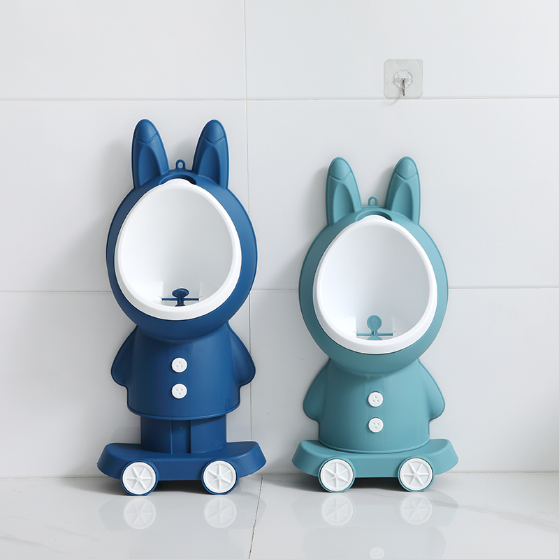 Kids Rabbit Potty Toilet Urinal Pee Trainer Wall-Mounted Toilet Pee Trainer Children Baby Boy Bathroom Rabbit Urinal