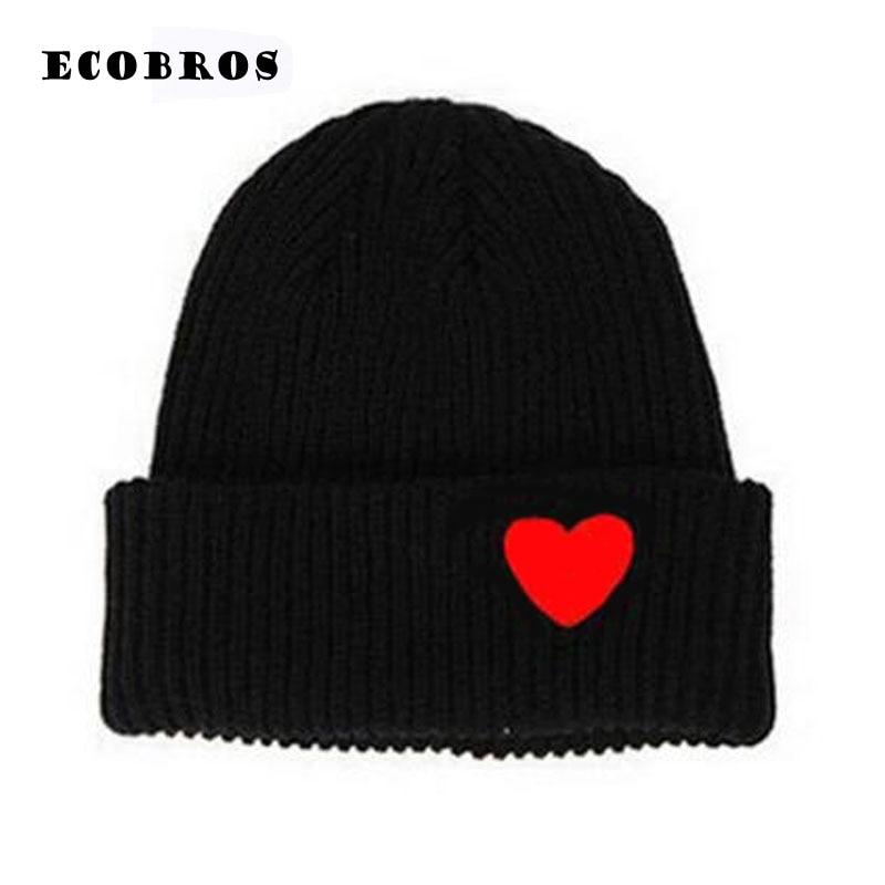 (have eyes) 2019 Winter woman warm hats Heart Eyes Cartoon Label   Beanies   Knit Hat Toucas Bonnet Hats man hat Crochet Cap Gorros
