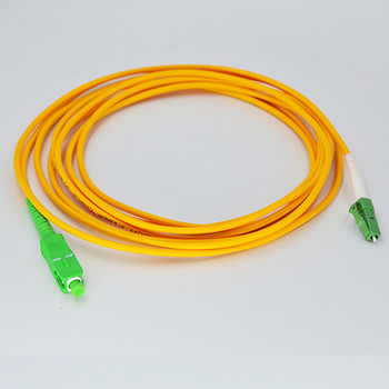 30pcs/lot  SC/APC to LC/APC Fiber Optic Patch Cord Fiber Jumper Cable Singlemode Simplex 9/125 3.0mm