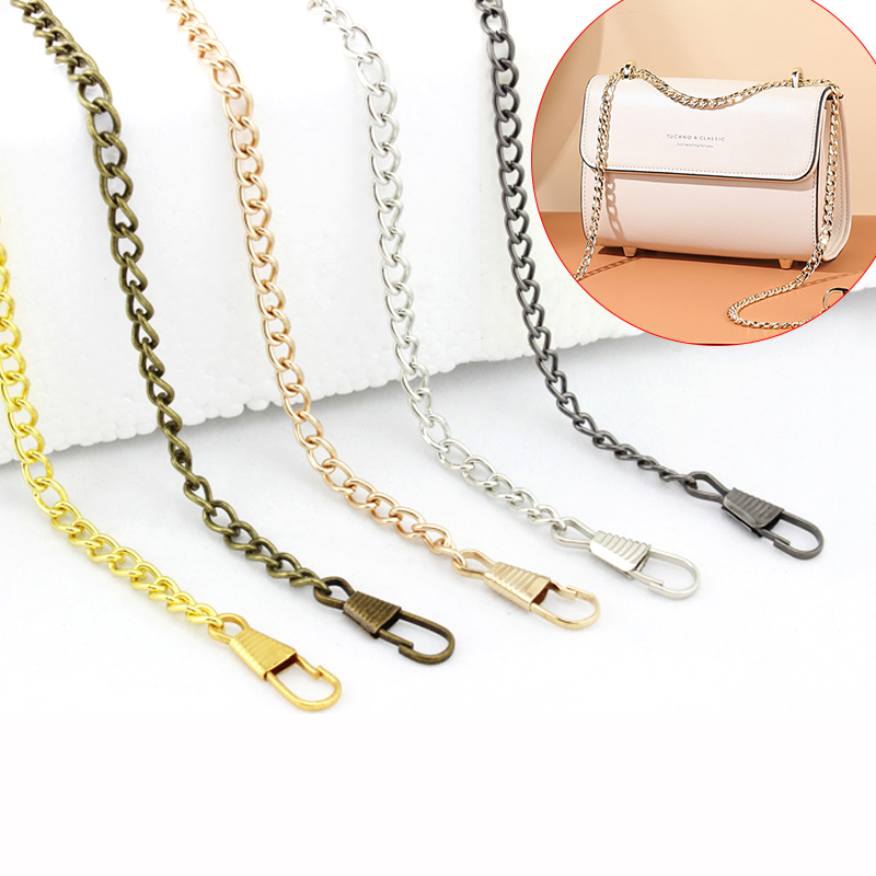 1x Ivoduff Long 120cm Metal Purse Chain Strap Handle Handle Replacement For Handbag Shoulder Bag