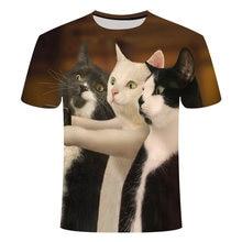 Горячие koop zomer ondeugende zwarte kat 3d футболка vrouwen