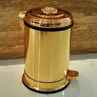 골든 페달 금속 쓰레기 수 상류층 호텔 빌라 주방 거실 욕실 덮여 쓰레기 수거통 ZP5161020