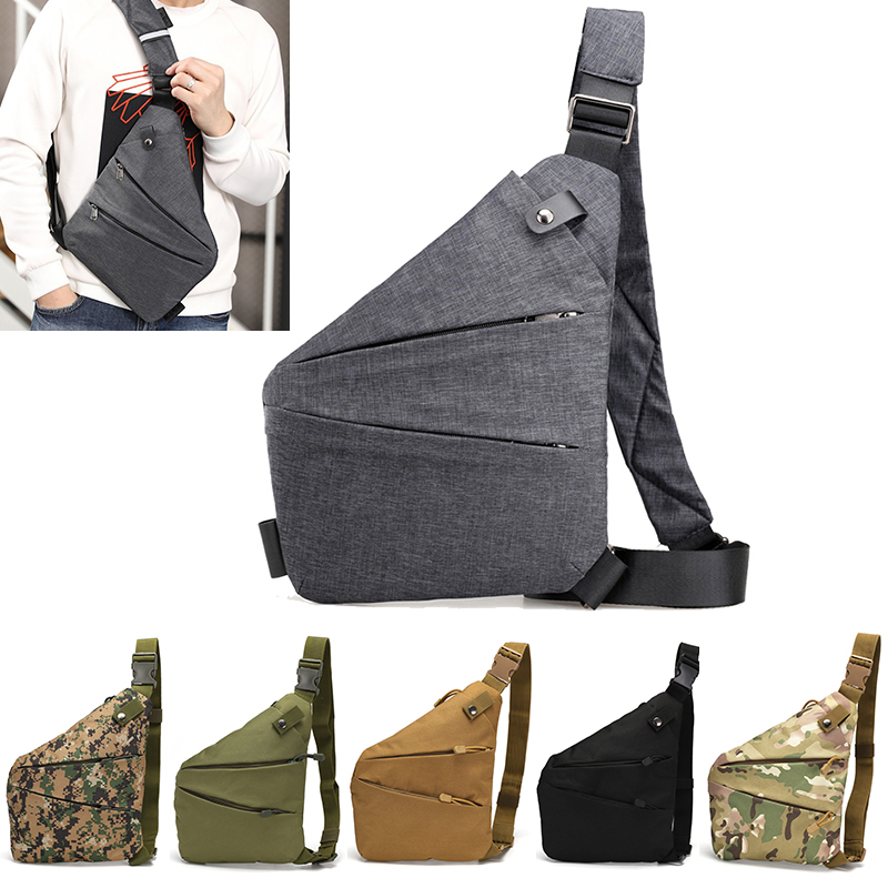 DIENQI Anti-theft Men Chest Bag Waterproof Chest Pack Travel  Personal Pocket Tactical Male Sling Bag Chest Cross body Bag Pauch 1