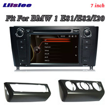 Liislee لسيارات BMW 1 E81 E82 I20 ستيريو راديو الجيل الثالث 3G BT Canbus تحديد مواقع لمشغل أقراص دي في دي خريطة الملاحة 1080P HD نظام الشاشة تصميم الملاحة الأصلي