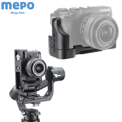 DLSR Camera Quick Release L Plate for Canon M6 Mark II Extension Bar with Cold Shoe for  Tripod Microphone Gimbal Stablizer