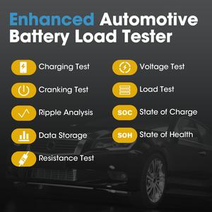 Image 3 - TOPDON سيارة لاسلكية جهاز اختبار بطارية BT المحمول لايت 12 فولت بلوتوث بطارية مراقب 100  2000CCA شاحن السيارات التحريك محلل ل