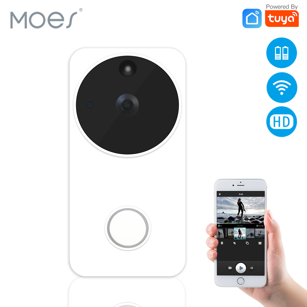 WiFi Smart Video Doorbell Wireless Camera Full HD PIR Motion Detection Night Vision Camera Work With Alexa Echo Show