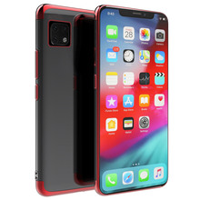 For iPhone 11Pro 11 Pro Max 6.5 Case Silicon Plating Soft TPU Bumper Shockproof Dropproof Cover for XS XR Clear