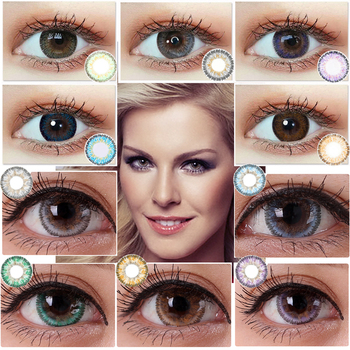 Christmas Color Contact Lenses Bule Brown Multicolored Lens Cosplay Beauty Girl Colored Contact Len for Eyes Beautiful Pupil image