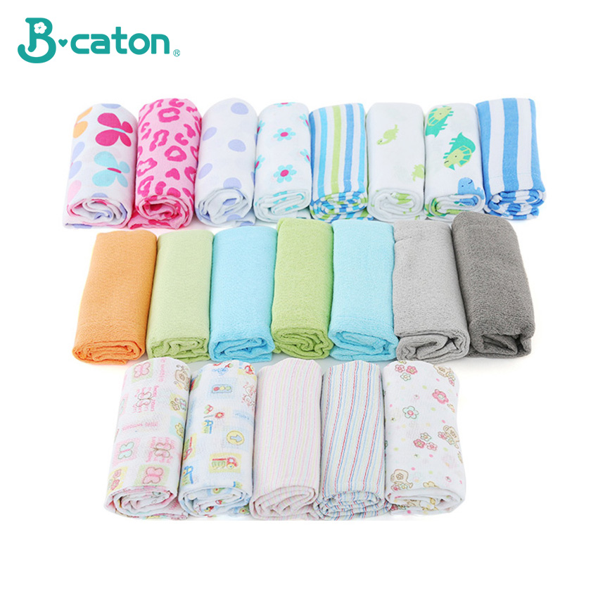 Cotton Cloth Diapers Fabric Washable Cute Cartoon Printing Birdseye 50--36cm title=