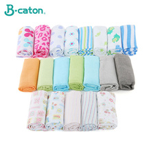 Baby Diaper Cotton Cloth Diapers Reusable Washable 100% Birdseye Fabric Breathable Cute Cartoon Printing 50*36Cm