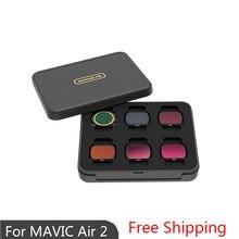 Фильтр для объектива камеры Sunnylife Mavic Air 2, Полярный фильтр нейтральной плотности для DJI Mavic Air 2, УФ-фильтр CPL ND NDPL4/8/16/32