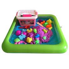 Brinquedos infláveis multifunction internos da bandeja da areia para as crianças jogam a modelagem da areia suprimentos da argila do lodo acessórios de mesa educacionais