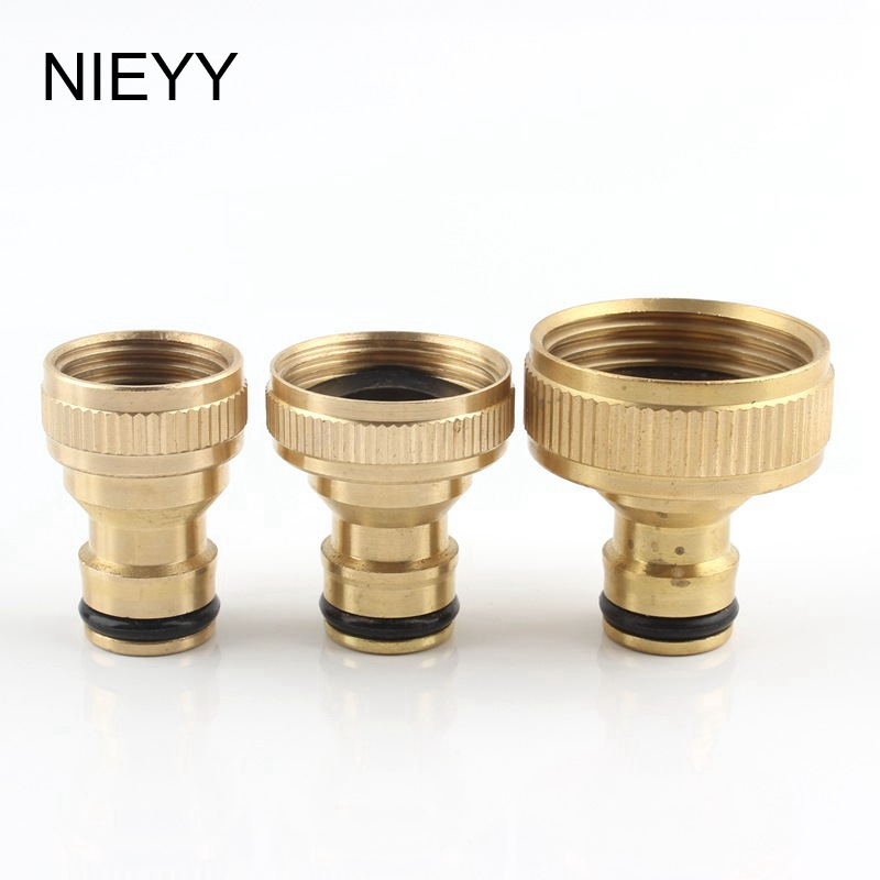 Brass 1/2 3/4 1 Inch Female Thread Nipple Quick Connector 16mm Hose Adapter Facuet Joint Garden Irrigation Water Gun Accessories