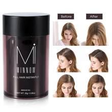 Wzrost włosów Minnow 9 rodzaje kobiety mężczyźni łysienie korektor pogrubienie włókna do budowy włosów proszek produkt do włosów