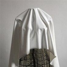 Хорошее белое блестящее зеркало искусственная кожа ткань Сильный стрейч искусственная кожа швейный материал для танцевальных брюк DIY боди