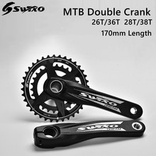 SWTXO Bicycle GXP Crankset Double Sprockets Crank 26/36T 28/38T 170mm Bottom Bracket Chainring Bolts for SRAM XX1 X9 XO X01