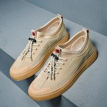 Осенняя парусиновая Мужская обувь; Повседневная дышащая обувь; Мужская обувь в Корейском стиле; трендовая Мужская обувь; мужские кроссовки