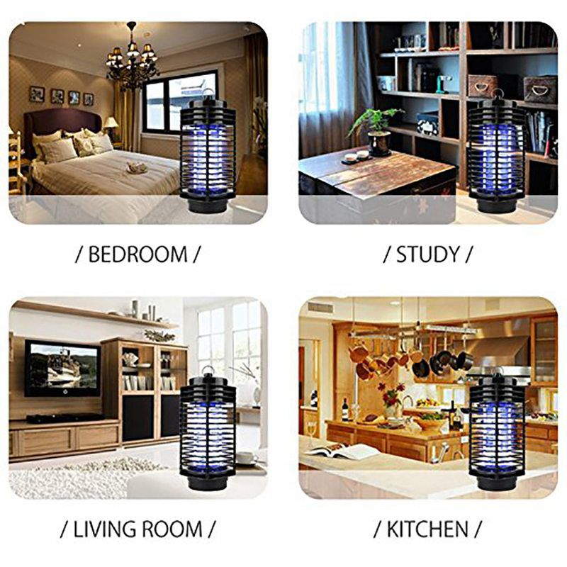 Electric Mosquito Killer Lamp LED Bug Zapper Insect Repeller UK Plug Mosquito No Radiation Non toxic Trap Killer in Repellents from Home Garden