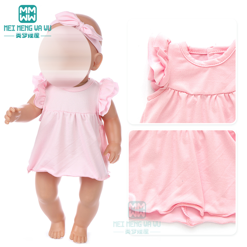 Clothes For Doll Fit 43cm Toy New Born Doll And American Doll Accessories 15 Types Of Casual Skirts