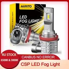 AUXITO 2X H11 LED Fog Light Bulbs H8 LED Fog Light Bulb H10 LED H16JP LED CSP 6000K/3000k Car Daytime Running Light Auto Lamp