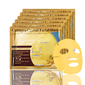 3/5Pcs Skin Care Face Mask Collagen Gold Masks Brightening Moisturizing Crystal Facial Mask Sheet Mask