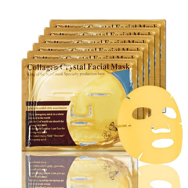 5Pcs Skin Care Face Mask Collagen Gold Masks Brightening Moisturizing Crystal Facial Mask Sheet Mask