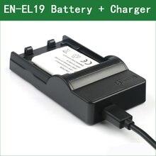 EN-EL19 RU EL19 цифровой Камера Батарея + Зарядное устройство для цифровой камеры Nikon Coolpix S32 S33 A300 S100 S2700 S2750 S2800 S3100 S3200 S3400 S3500