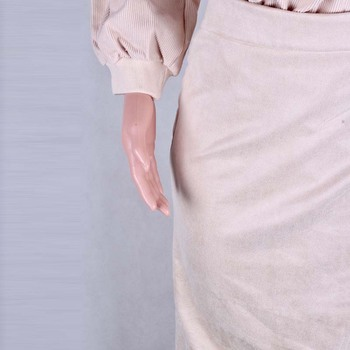 Womens Winter Skirt Wool Autumn Irregular Slit Female Brown Thick Warm Clothes 2019 Fall Lace-up Wrap Work Office Long Skirts 6