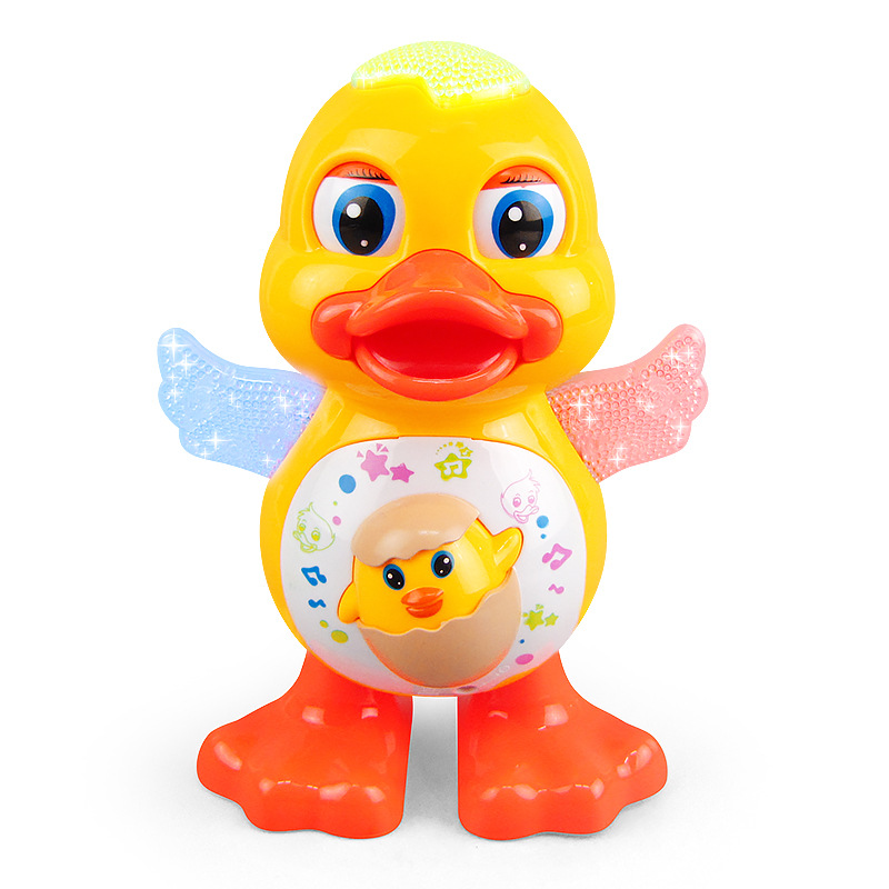 Zhenwei Battery Powered Musical Dancing Duck With Flashing Light Interesting Waddle Electronic Toy Gift For Toddlers Children