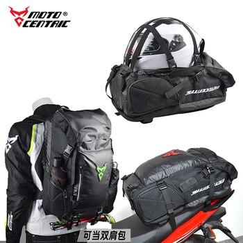 2020 nueva Multi-función impermeable motocicleta bolsa de asiento trasero lateral/trasero bolso casco montar mochila seca Moto bicicleta carreras equipaje #