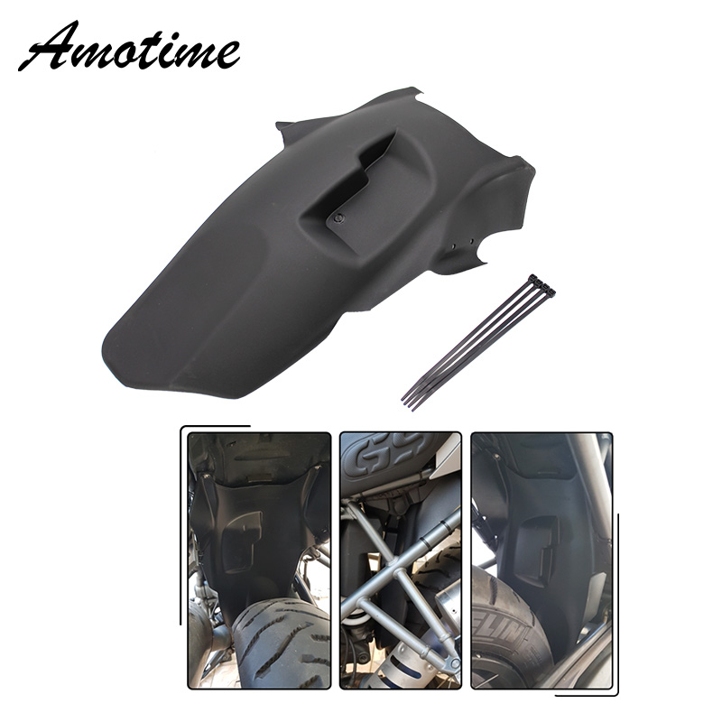 For BMW R1200GS ABS Plastic Motorcycle Rear Fender Black Motorbike Cover Mudguard For BMW R 1200 GS Adventure 2005-2013