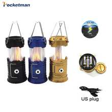 40000 Lumen Camping Lantaarn Solar Power Led Lichtbron Poweful Draagbare Tent Werklamp Led Vlam Lantaarn Torch(China)