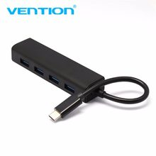 Vention Type-C To 4-Port USB 3.0 Hub High Speed Transmission GL 3520 Chip Hub Adapter Splitter Portable For Macbook Laptop(China)