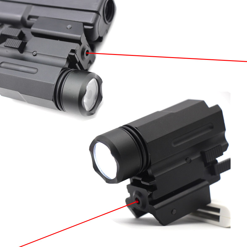 Red Dot Laser Sight Pointer Hunting Airsoft Tactical LED Flashlight Combo Sight Optics For Glock 17 19 And 20mm Rail Hand Gun