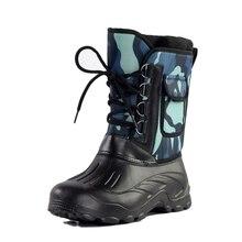 mens winter boots designer PU hunting snow for men raining  male comfortable shoe